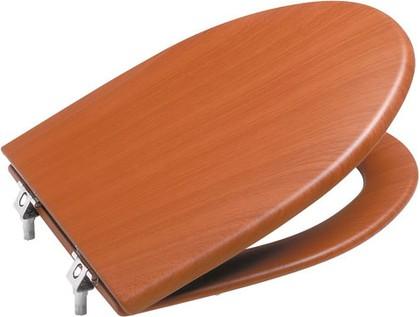 """Лакированное сиденье и крышка с механизмом """"мягкое закрывание"""" для унитаза, вишня Roca AMERICA 801492M14"""