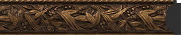 Зеркало с фацетом в багетной раме 59x89см византия бронза 99мм Evoform BY 3417