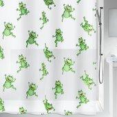Штора для ванной Spirella Frogtime, 180x200см, полиэтилен, зелёная 1006487