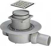 Трап для ванной комнаты с защитой от запахов, рамкой из нержавеющей стали, горизонтальный выпуск Viega Advantix 583248