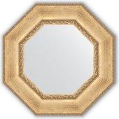 Зеркало Evoform Octagon 630x630 в багетной раме 120мм, состаренное серебро с орнаментом BY 3670