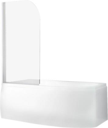 Шторка на ванну Roltechnik Screen Pro, 81x140см, прозрачное стекло, белый 4000688