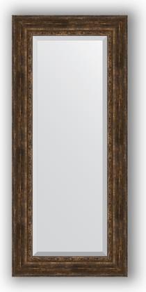 Зеркало с фацетом в багетной раме 67x152см состаренное дерево с орнаментом 120мм Evoform BY 3560