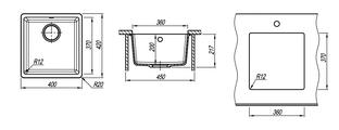 Кухонная мойка Florentina Вега, 400x420x217мм, коричневый 22.310.B0360.105