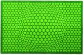 Коврик придверный 50х78см, зеленые соты Golze Honeycompositions 1700-40-007-030