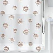 Штора для ванной Spirella Shell, 180x200см, полиэтилен, белый 1015239