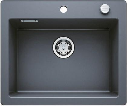 Кухонная мойка без крыла, с клапаном-автоматом, керамика, базальт Blanco Palona 6 520928