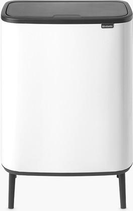 Мусорный бак Brabantia Touch Bin Bo Hi, 2x30л, белый 130601