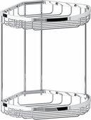 Полочка для ванной угловая FBS Ryna 30х23х26см, 2х-уровневая, хром RYN 026