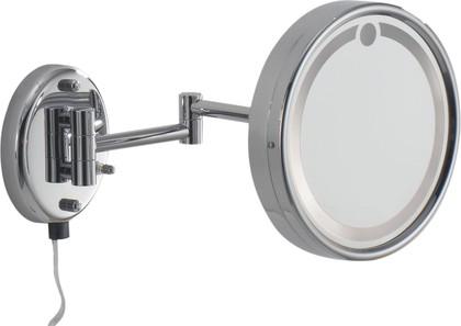 Зеркало косметическое Colombo Contract, настенное, с подсветкой, хром B9966