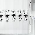 Штора для ванны 180x200см чёрно-белая Spirella BEAGLE 1012416