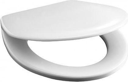Сиденье для унитаза с крышкой, пластиковые петли, белое Jika Lyra 925153000009