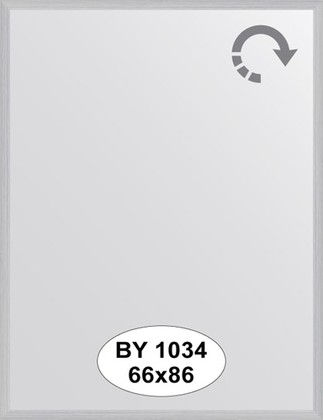 Зеркало 66x86см в багетной раме сталь Evoform BY 1034