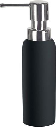 Ёмкость для жидкого мыла фарфоровая чёрная Kleine Wolke Pur 5055926854