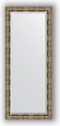 Зеркало 63x153см с фацетом 30мм в багетной раме старый бамбук Evoform BY 1186