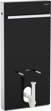 Сантехнический модуль (инсталляция) для установки напольного или подвесного биде, чёрное стекло / алюминий Geberit MONOLITH 131.030.SJ.1