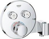 Термостат для душа Grohe Grohtherm SmartControl, 2 потребителя, с держателем, хром 29120000
