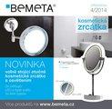 Зеркало косметическое настенное с изменяемой подсветкой (холодный, тёплый свет) диаметр 220мм, Bemeta 112101148