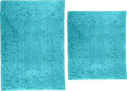 Набор ковриков для ванной Grund Ornamentik, 50x80см, 50x55см, полиэстер, светло-синий b4028-326184/606184