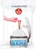 Мешки для мусора Brabantia PerfectFit 23л, размер J, 40шт 115608