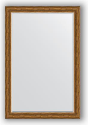 Зеркало с фацетом в багетной раме 119x179см травленая бронза 99мм Evoform BY 3628