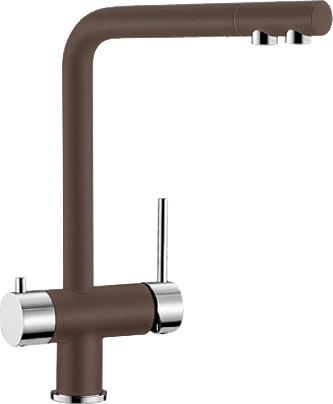 Смеситель кухонный однорычажный с высоким изливом для обычной и питьевой воды, кофе Blanco FONTAS 518513