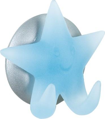 Крючок самоклеящийся голубой Spirella STAR 1004620