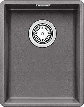 Кухонная мойка без крыла, с клапаном-автоматом, гранит, тёмная скала Blanco Subline 320-F 519791