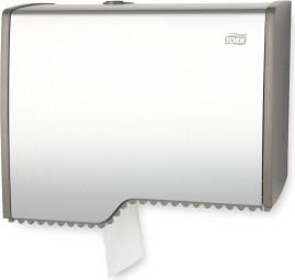 Диспенсер для туалетной бумаги в мини рулонах, алюминий/серый Tork Aluminium 455000