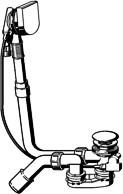 Слив-перелив с сифоном для стандартных ванн Viega Multiplex Trio M9 723347