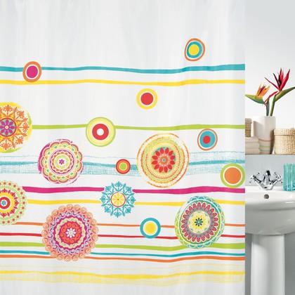 Штора для ванной 180x200см текстильная Spirella SALINAS 1017818