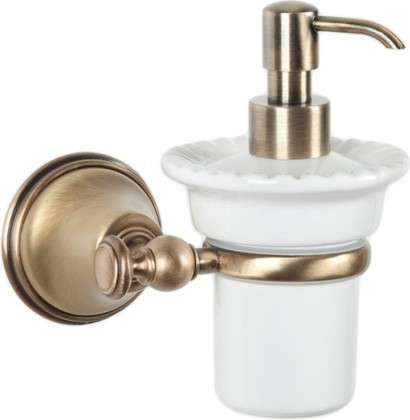 Дозатор для жидкого мыла керамический, бронза TW Harmony TWHA108br