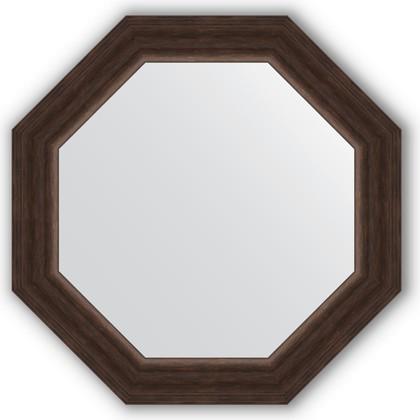 Зеркало Evoform Octagon 516x516 в багетной раме 62мм, палисандр BY 3721