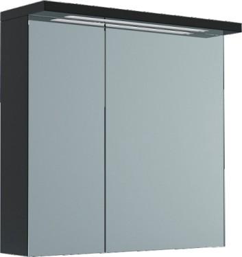 Шкаф для ванной зеркальный 70x70см, 2 двери, подсветка Verona Viva VA603