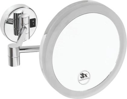 Зеркало косметическое настенное с подсветкой, диаметр 200мм, Bemeta 112102682e