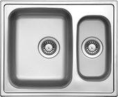 Кухонная мойка Florentina Профи, две чаши, без крыла, матовая сталь PR.615.500.B.1K.M.08