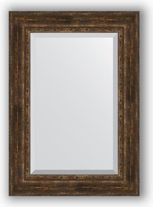 Зеркало с фацетом в багетной раме 72x102см состаренное дерево с орнаментом 120мм Evoform BY 3456