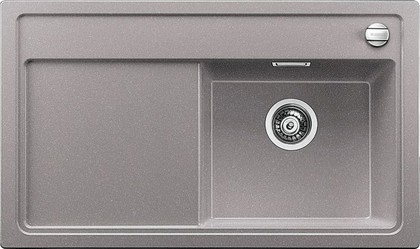 Кухонная мойка чаша справа, крыло слева, с клапаном-автоматом, гранит, алюметаллик Blanco Zenar 45 S-F 519293