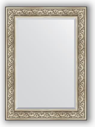Зеркало с фацетом в багетной раме 80x110см барокко серебро 106мм Evoform BY 3476