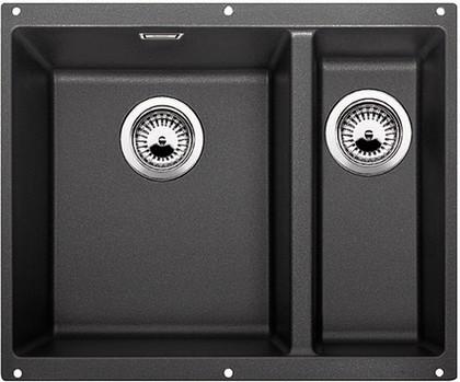 Кухонная мойка без крыла, основная чаша слева, с клапаном-автоматом, гранит, антрацит Blanco Subline 340/160-U 513795