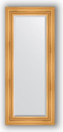 Зеркало с фацетом в багетной раме 59x139см травленое золото 99мм Evoform BY 3522