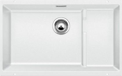 Кухонная мойка без крыла, с клапаном-автоматом, гранит, белый Blanco SUBLINE 700-U Level 518393