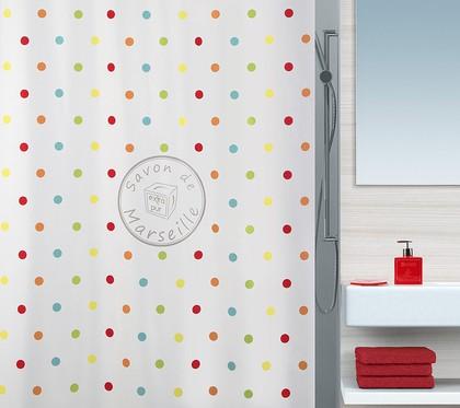 Штора для ванны 180x200см мультиколор Spirella Savon De Marseille 4007280