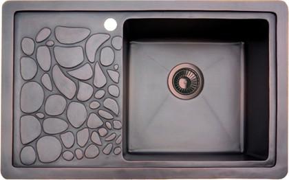 Кухонная мойка крыло слева, медь натуральная Omoikiri Takatsu-R 4993053