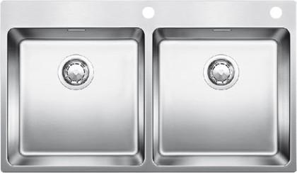 Кухонная мойка без крыла, с клапаном-автоматом, нержавеющая сталь полированная Blanco ANDANO 400/400-IF/A 519559