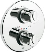 Термостат для душа встраиваемый в комплекте со встроенной частью, хром Grohe therm 1000 34161000