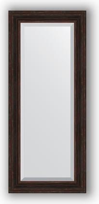 Зеркало с фацетом в багетной раме 64x149см темный прованс 99мм Evoform BY 3551