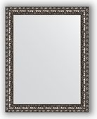 Зеркало Evoform Defenite 370x470 в багетной раме 38мм, чёрненое серебро BY 1340