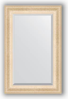 Зеркало 55x85см с фацетом 30мм в багетной раме старый гипс Evoform BY 1232