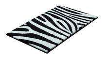 Коврик для ванной 60x100 черно-белый Grund Zebra 2761.16.014